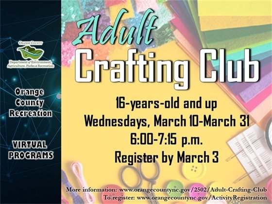 Adult Crafting Club - Ages 16-years-old and up
