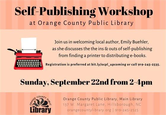 Self-publishing workshop graphic