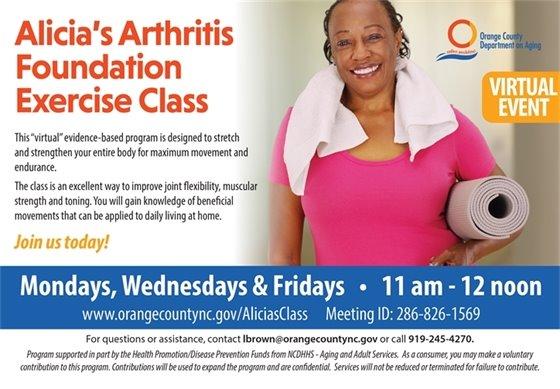 Alicia's Arthritis Foundation Exercise Class