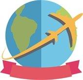 Travel - Airplane - Globe