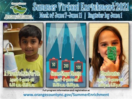 Summer Virtual Enrichment week 1