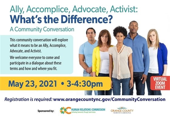 Ally, Accomplice, Advocate, and Activist: What's the Difference? graphic