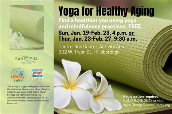 Yoga for healthy aging graphic