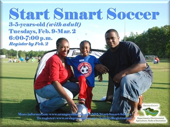 Start Smart Soccer - ages 3 to 5-years-old with adult