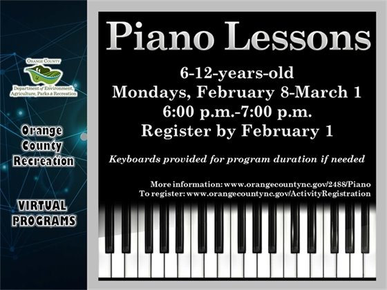 Piano - ages 7 to 12-years-old