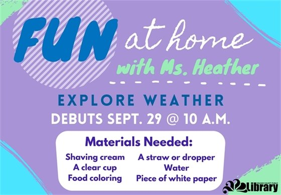 Click on image to go to our YouTube channel for fun at home with Ms. Heather