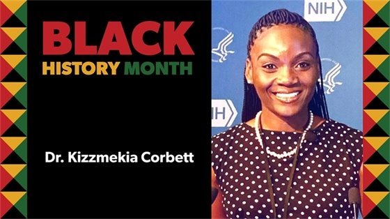 Graphic of Dr. Kizzmekia Corbett Black History Month video,