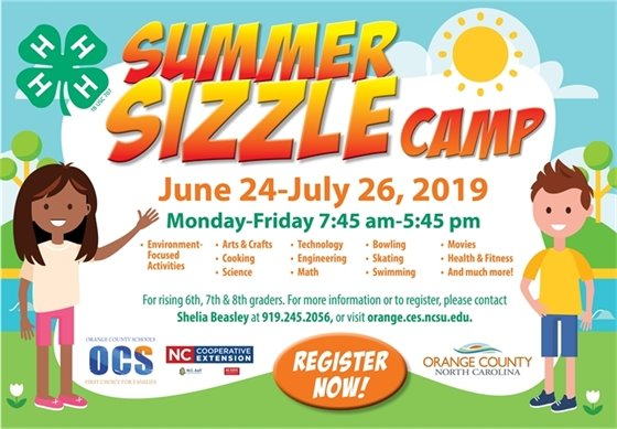 Summer Sizzle Camps ad