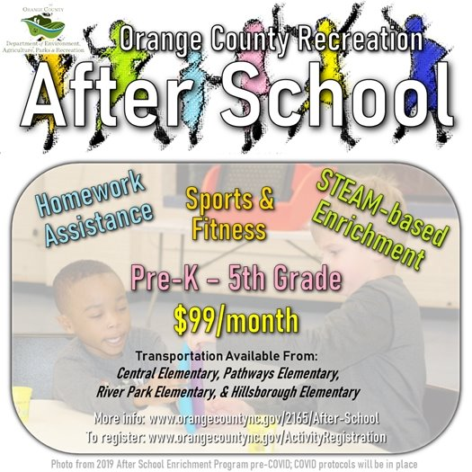 After School for Pre-K through 5th grade