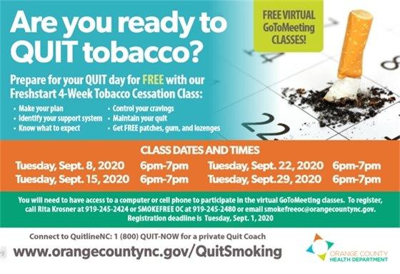 Tobacco Cessation Class
