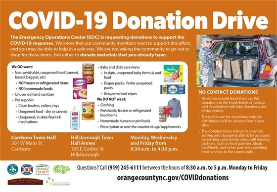 donation drive in Orange County