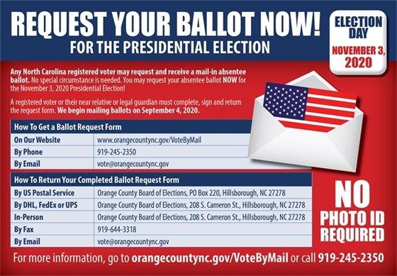 Absentee ballot graphic