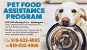 Pet Food Assistance Program Donation Wish List