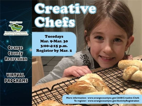 Creative Chefs - ages 6-9 years old