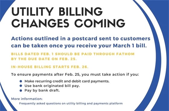 Utility Billing Changes