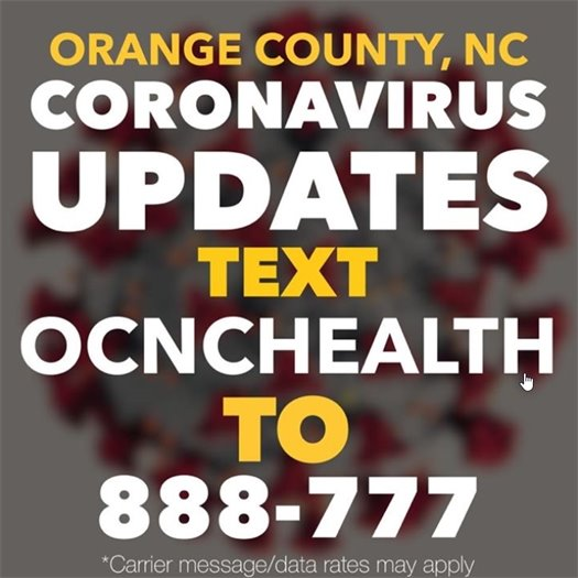 Orange County, NC Coronavirus Updates