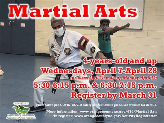 Martial Arts - ages 7-years-old and up
