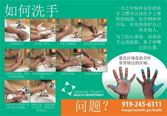 Hand washing (Chinese)