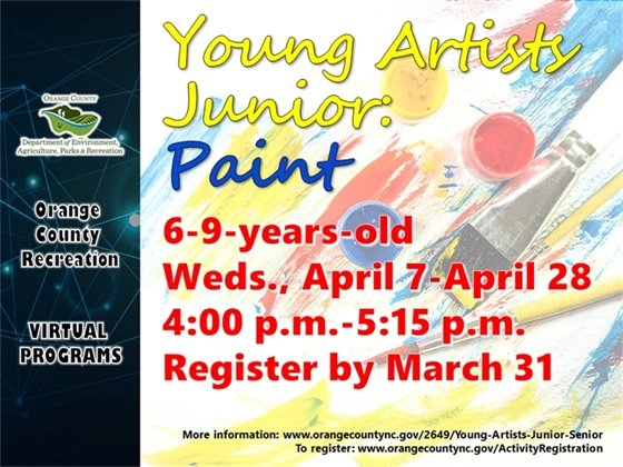 Young Artists - ages 6-9-years-old