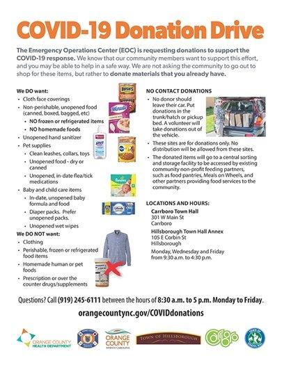 Orange County COVID-19 Donation Drive