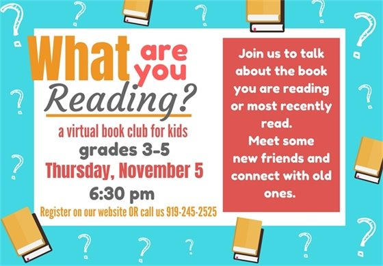 Join us for What are you Reading?