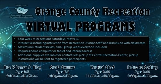 Orange County Recreation Virtual Programs