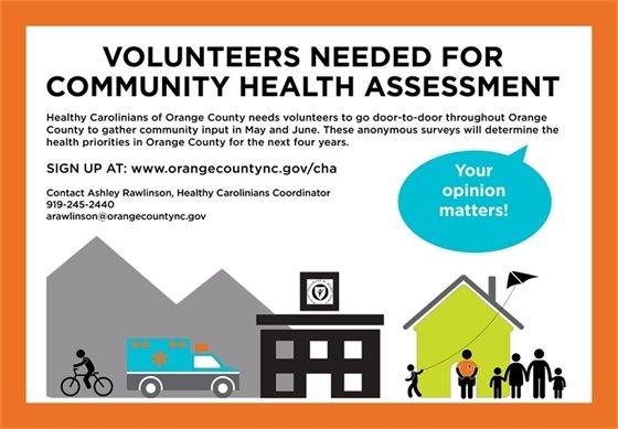 Community Health Assessment volunteers graphic