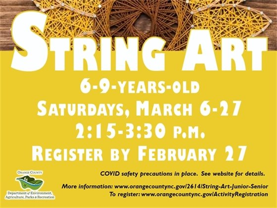 String Art Junior - ages 6 to 9-years-old