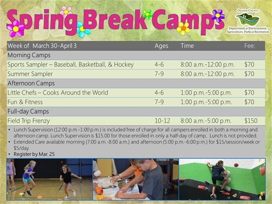 Spring Break Camps March 30-April 3