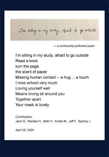 a poem written by the library community.