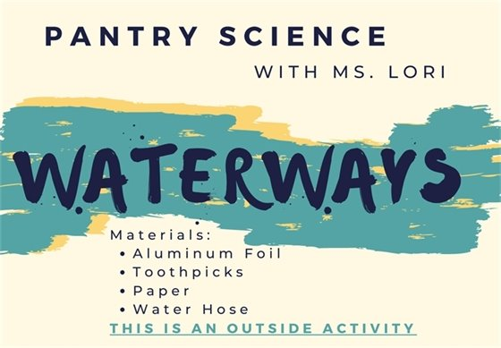 Abstract image of water for Ms. Lori's Pantry Science