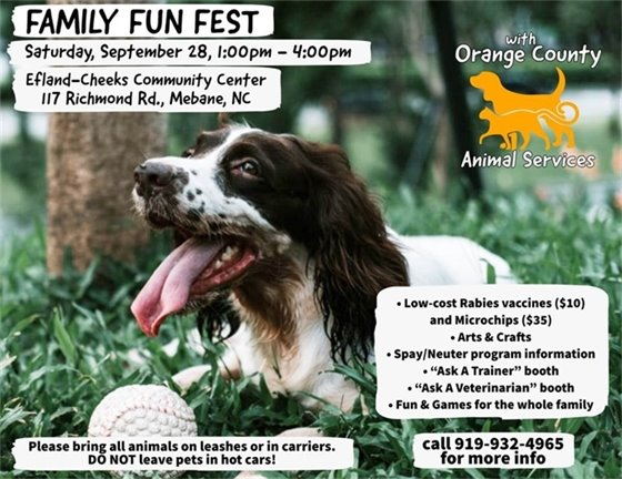 Animal Services Family Fun Fest graphic