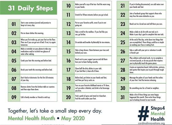 31 daily steps