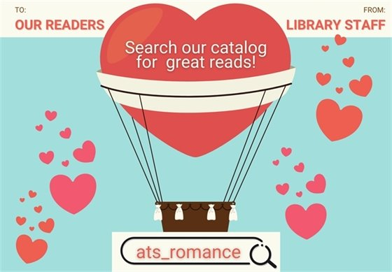 Romance books at the library