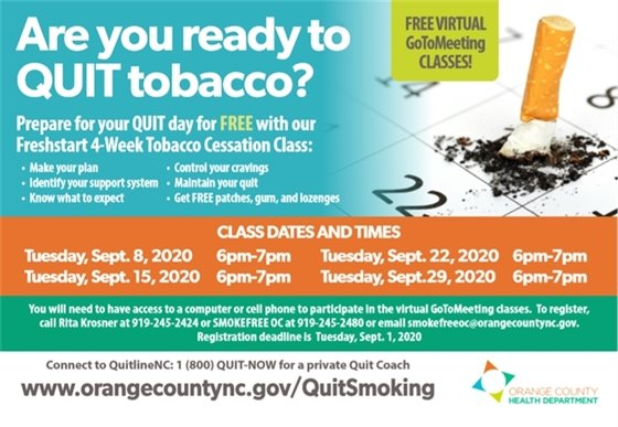 Orange County Health Department Tobacco Prevention, Cessation, and Control