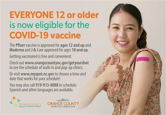 COVID Vaccine info graphic