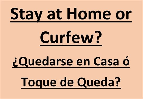 Stay at Home or Curfew?