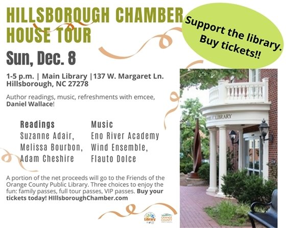 Hillsborough Chamber House Tour graphic