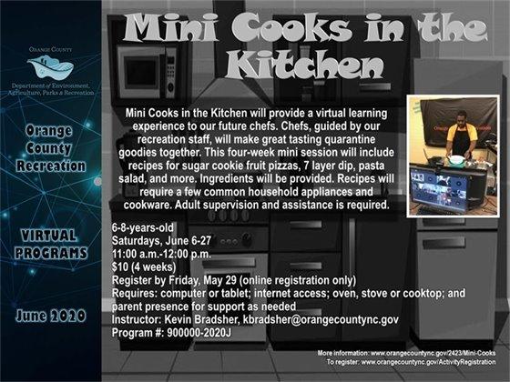 Mini Cooks in the Kitchen June 2020