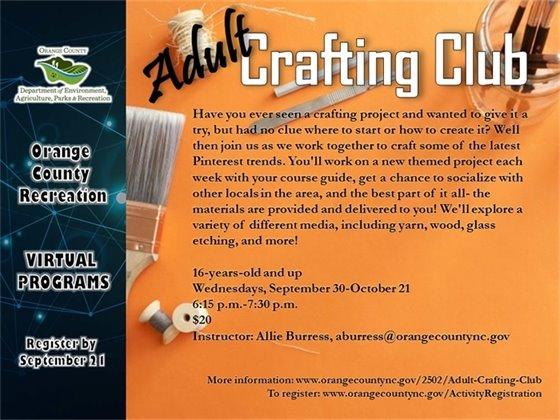 Adult Crafting Club