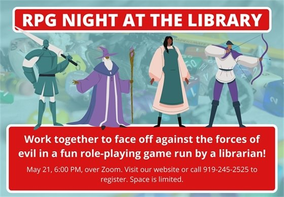 RPG Night at the Library graphic