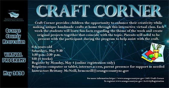 Orange County Recreation Craft Corner