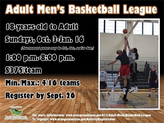 Men's Basketball League - ages 18+