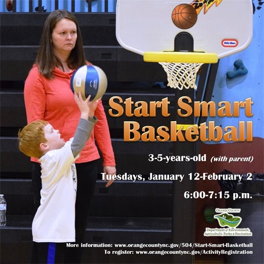 Start Smart Basketball - ages 3 to 5-years-old with adult