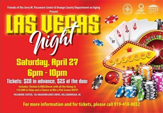 Poster: Las Vegas Night, Saturday, April 27, 6-10 pm