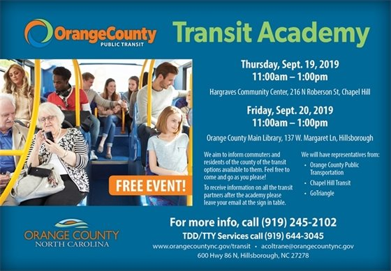 Orange County Transit Academy graphic