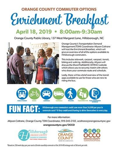 enrichment breakfast flyer