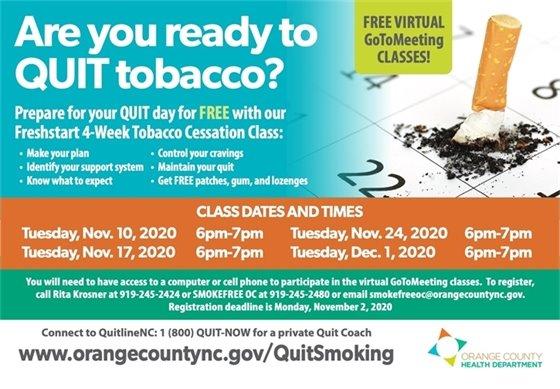 Free Smoking Cessation Class