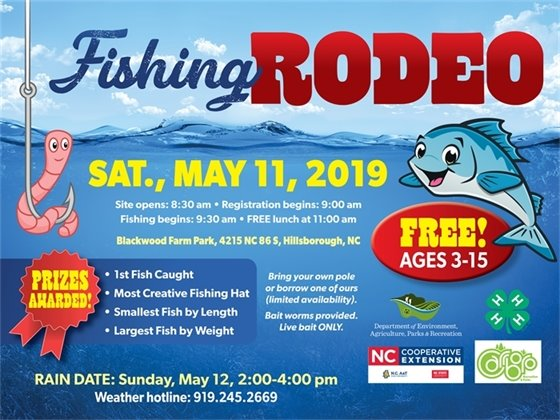 Fishing Rodeo, Saturday, May 11, Blackwood Farm Park, 9:30 a.m.-11:00 a.m.