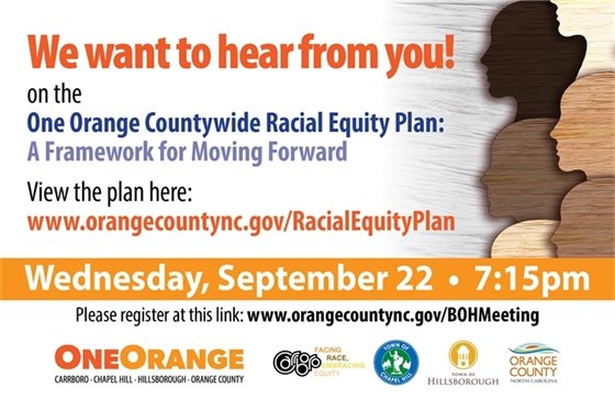 One Orange Countywide Racial Equity issue graphic